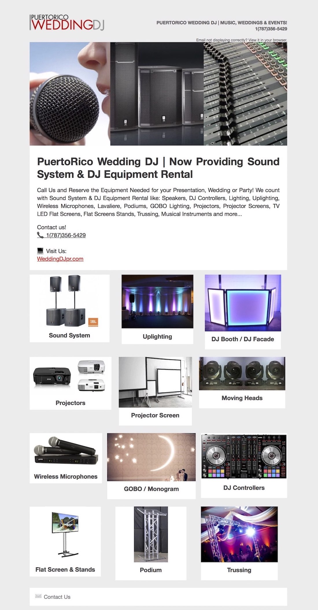 Speaker Rental Service In Puerto Rico Sound System